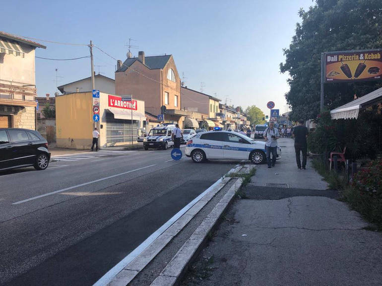 La scena dell'incidente dell'1 agosto scorso a Sant'Egidio
