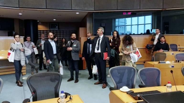 Settimanali diocesani in visita al parlamento europeo for Sede parlamento italiano